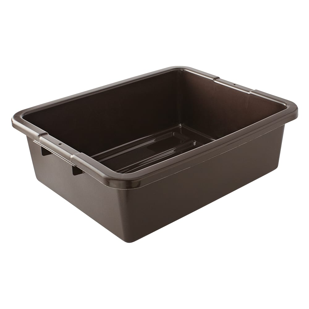 "Rubbermaid FG335192BRN Bus/Utility Box - Undivided 21-1/2x17-1/8x7"" Brown"