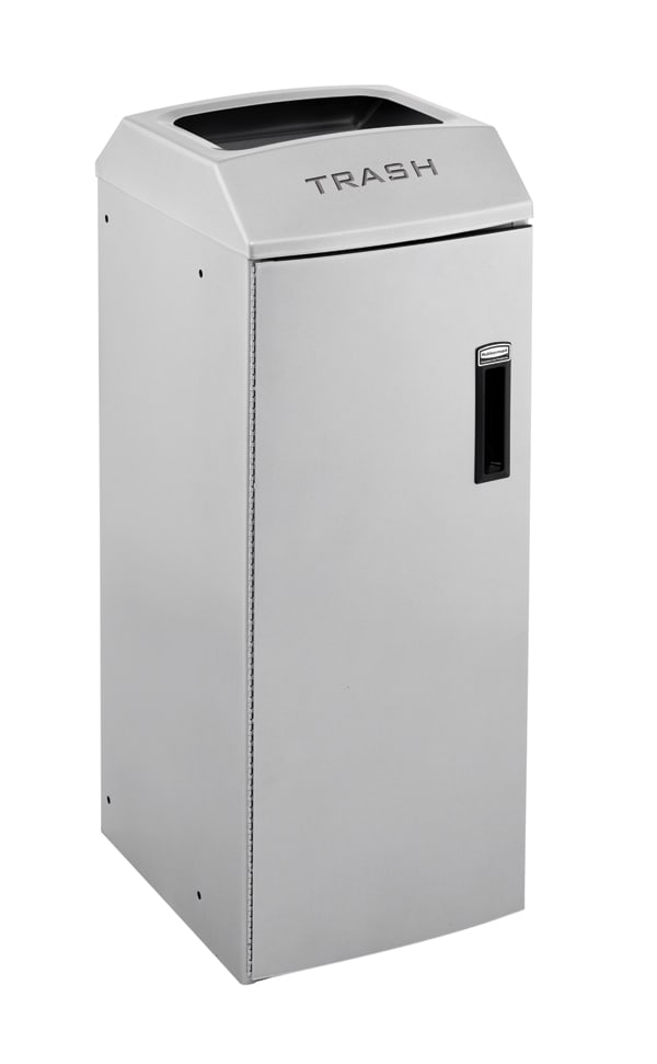Rubbermaid 3485984 21-gal Multiple Material Recycle Bin - Indoor, Decorative & Fire Resistant