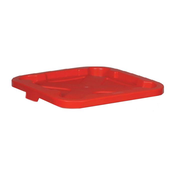 Rubbermaid FG351700 RED Square Flat Trash Can Lid - Plastic, Red