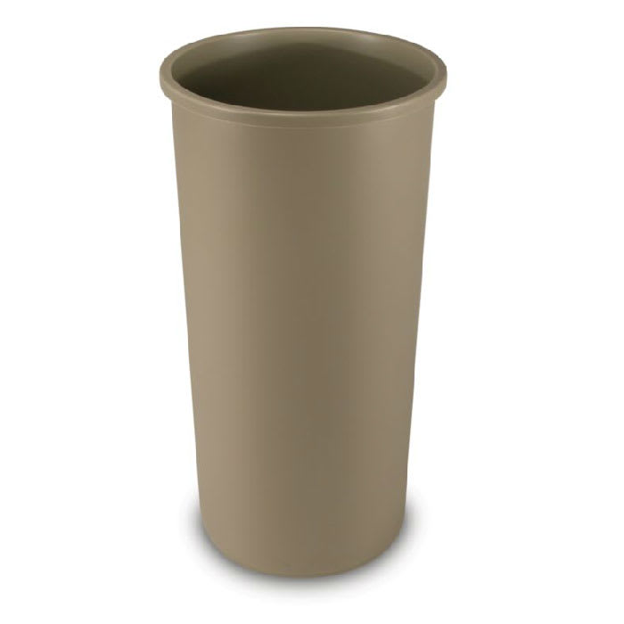 Rubbermaid FG354600BEIG 22-gallon Commercial Trash Can - Plastic, Round