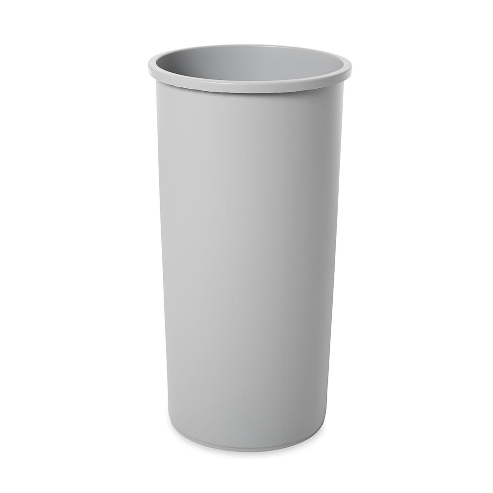Rubbermaid FG354600GRAY 22 gallon Commercial Trash Can - Plastic, Round