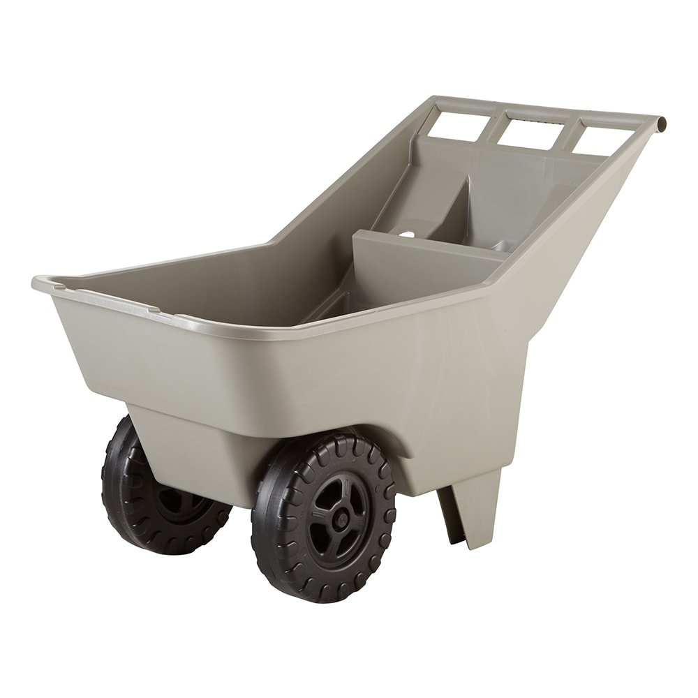 Rubbermaid FG370712907 .12 cu yd Trash Cart w/ 200 lb Capacity, Platinum