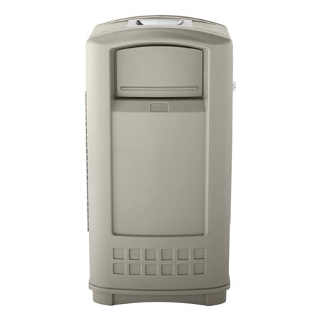 Rubbermaid FG396500 BEIG Trash Can Top Cigarette Receptacle - Outdoor Rated