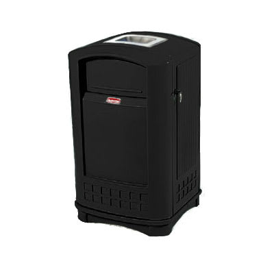 Rubbermaid FG396500 BLA Trash Can Top Cigarette Receptacle - Outdoor Rated