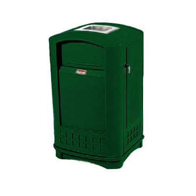 Rubbermaid FG396500DGRN Trash Can Top Cigarette Receptacle - Outdoor Rated