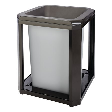 """Rubbermaid FG396700 SBLE 20 gal Landmark Series Container - 21x21x30 1/2"""" Large Opening, Sable"""