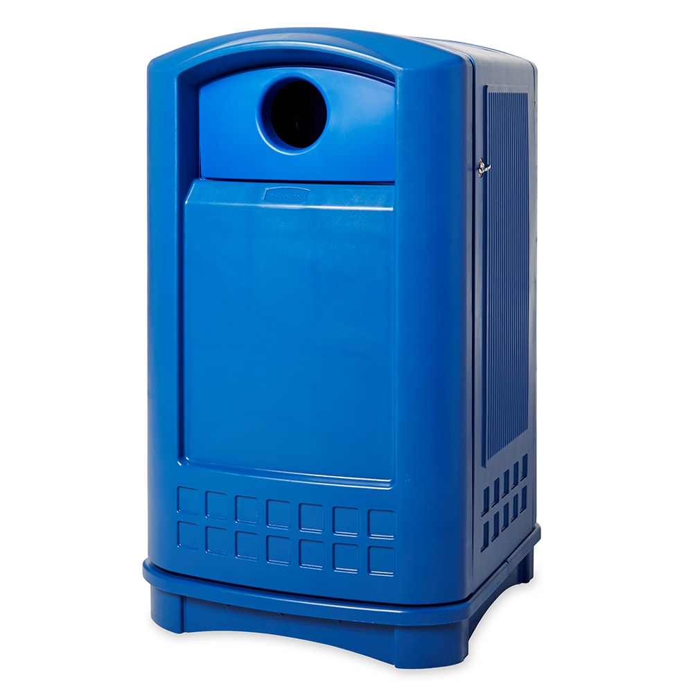 Rubbermaid FG396873 BLUE 50-gal Cans Recycle Bin - Outdoor