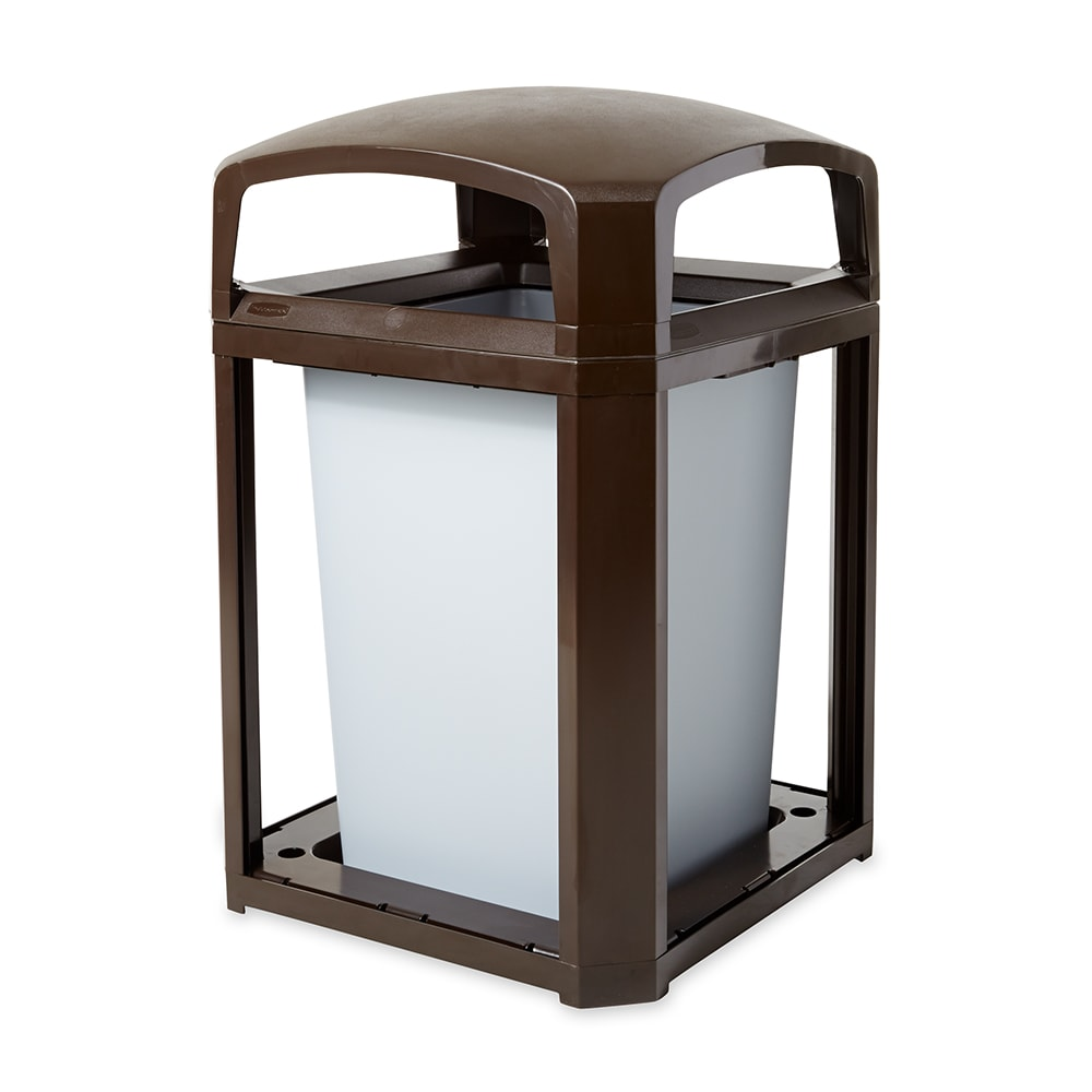 "Rubbermaid FG397000 SBLE 35 gal Landmark Series Container - 26x26x40"" Dome Top Frame, Sable"