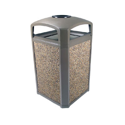 Rubbermaid FG397501DWOOD Trash Can Top Cigarette Receptacle - Outdoor Rated
