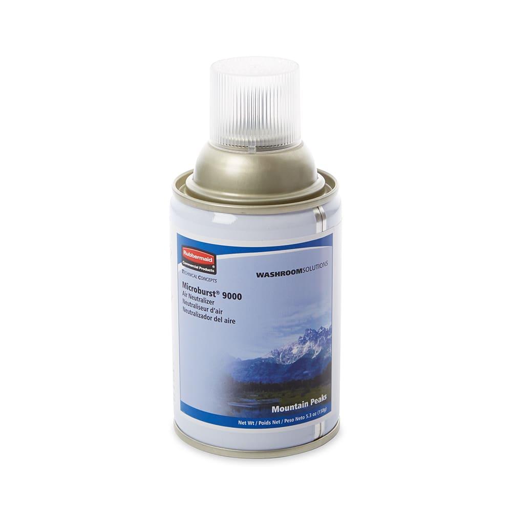 Rubbermaid FG4012461 5.25 oz Microburst® 9000 Aerosol Air Neutralizer Refill, Mountain Peaks