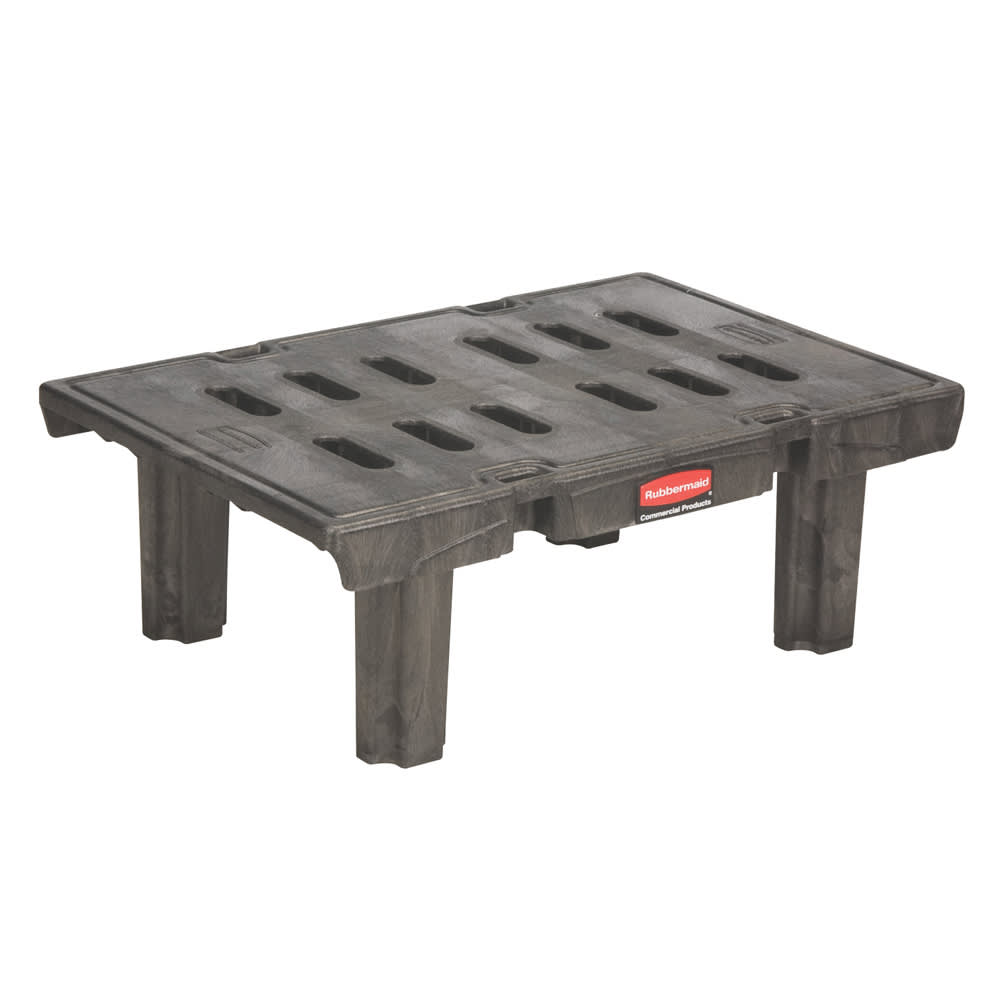 "Rubbermaid FG448900BLA 36"" Stationary Dunnage Rack w/ 1500-lb Capacity, Aluminum"