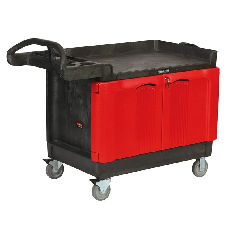 Rubbermaid FG453288BLA Maintenance Cart w/ 750-lb Capacity, Black
