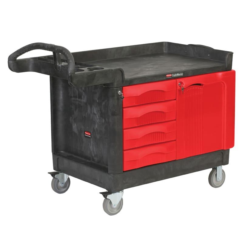 Rubbermaid FG453388 BLA Maintenance Cart w/ 750 lb Capacity, Black