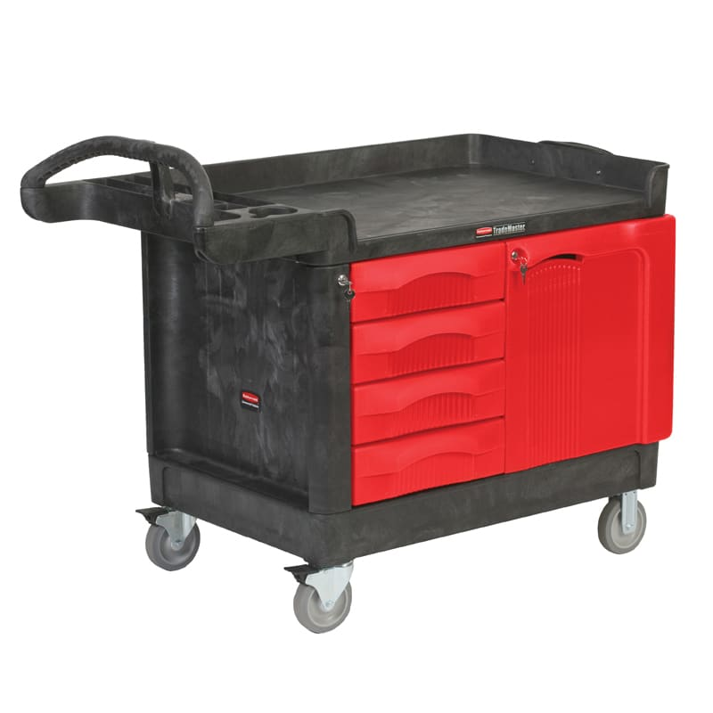 Rubbermaid FG454888 BLA Maintenance Cart w/ 750-lb Capacity, Black