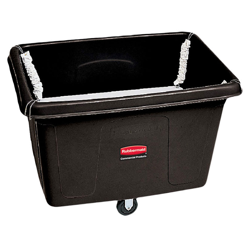 Rubbermaid FG461100 BLA .5- cu yd Trash Cart w/ 500-lb Capacity, Black