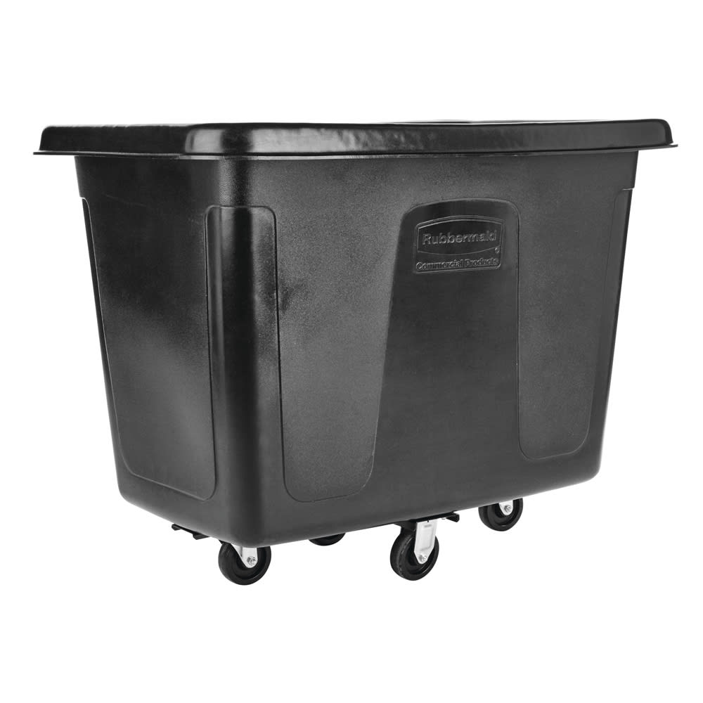 Rubbermaid FG461200 BLA .4 cu yd Trash Cart w/ 400 lb Capacity, Black