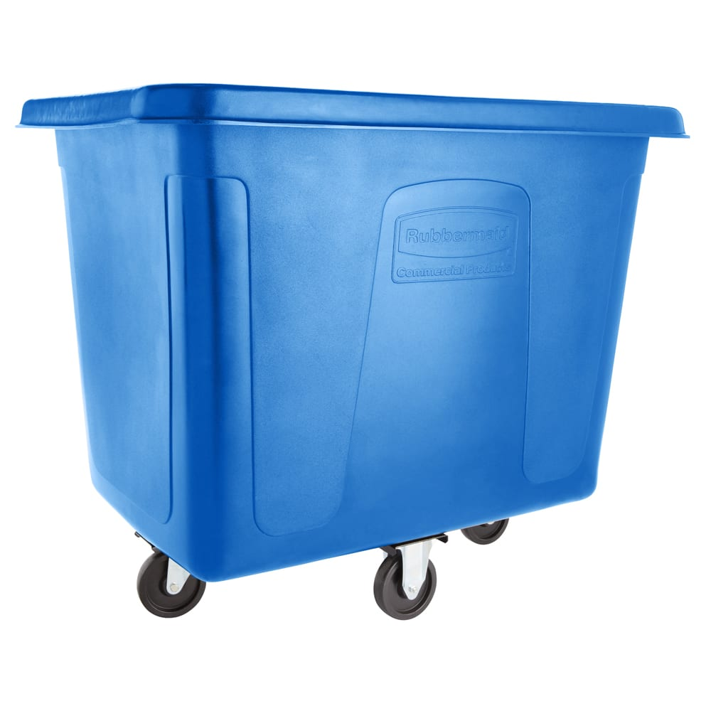 Rubbermaid FG461200DBLUE .4-cu yd Trash Cart w/ 400-lb Capacity, Blue