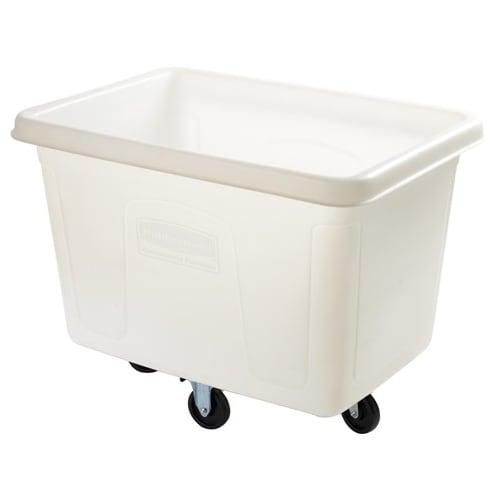 Rubbermaid FG461200 WHT .4 cu yd Trash Cart w/ 400 lb Capacity, White
