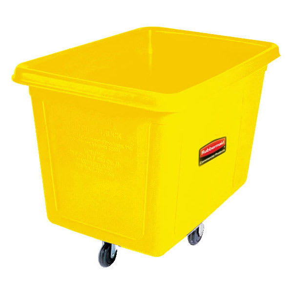 Rubbermaid FG461200YEL .4-cu yd Trash Cart w/ 400-lb Capacity, Yellow