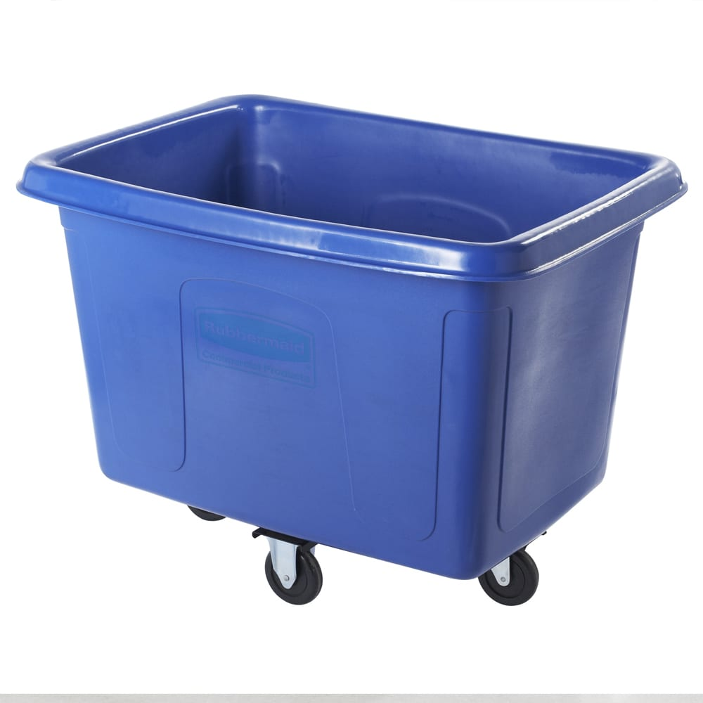 Rubbermaid FG461400BLUE .5 cu yd Trash Cart w/ 500 lb Capacity, Blue