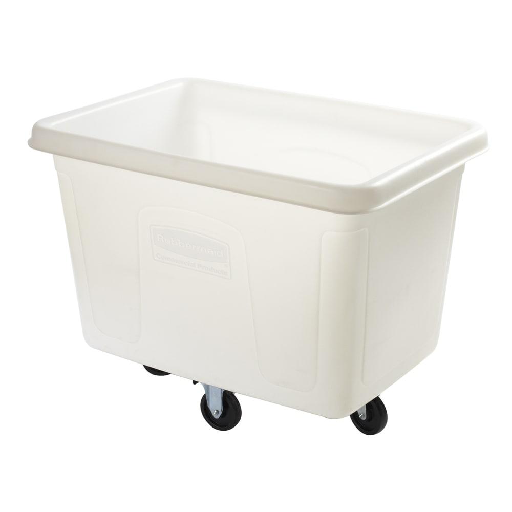 Rubbermaid FG461400 WHT .5 cu yd Trash Cart w/ 500 lb Capacity, White