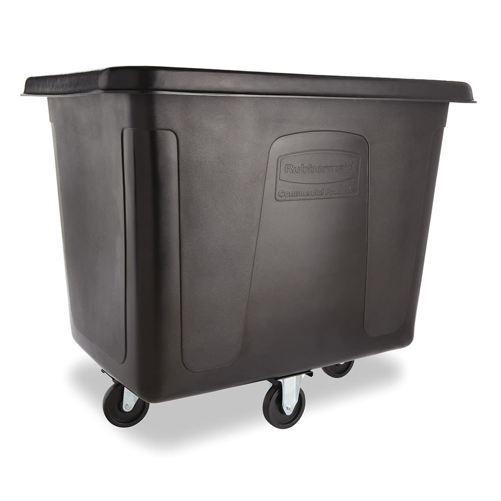 Rubbermaid FG461600 BLA .6-cu yd Trash Cart w/ 500-lb Capacity, Black