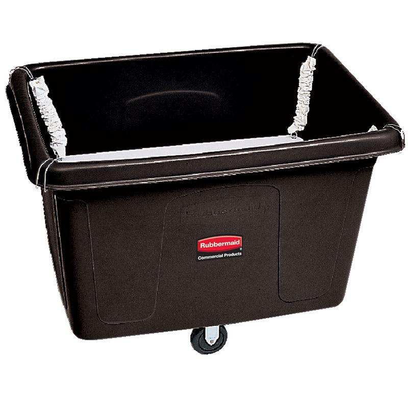 Rubbermaid FG461800 BLA .7-cu yd Trash Cart w/ 600-lb Capacity, Black
