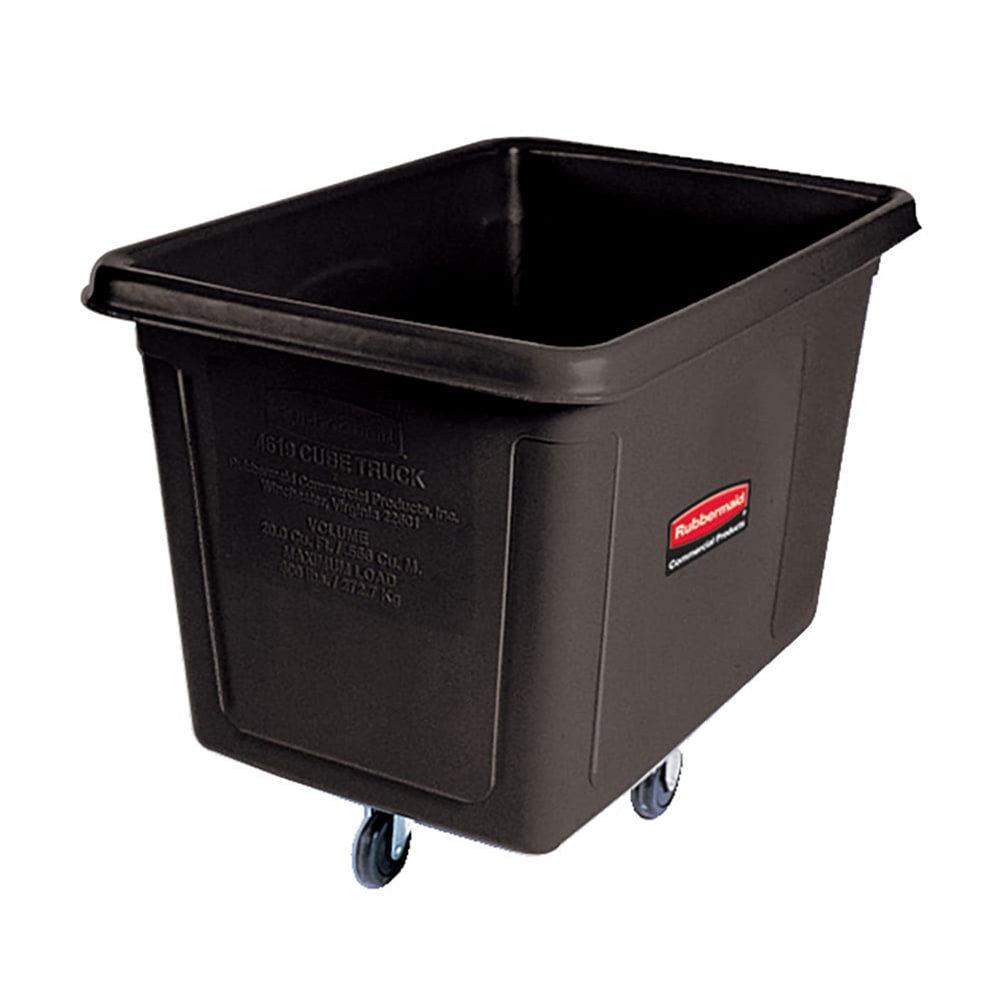Rubbermaid FG461900 BLA .7-cu yd Trash Cart w/ 600-lb Capacity, Black