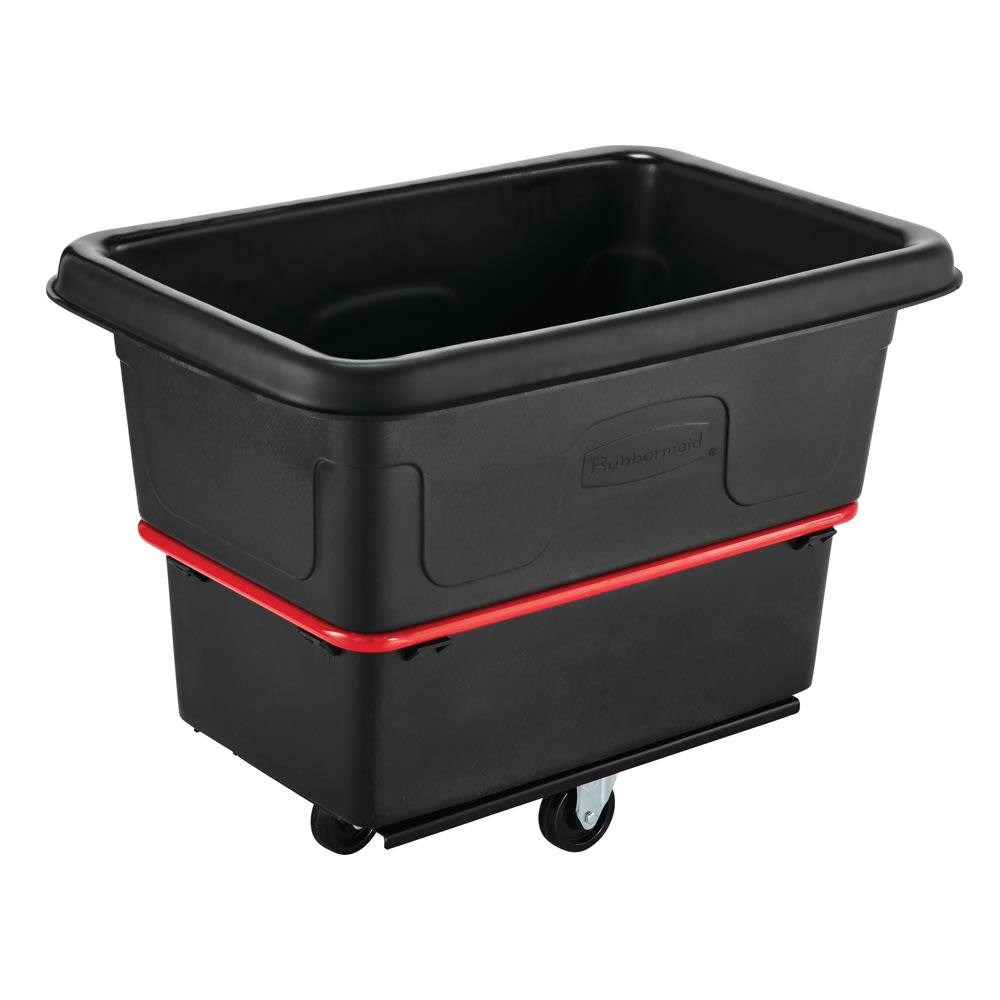 Rubbermaid FG470800 BLA .3-cu yd Trash Cart w/ 700-lb Capacity, Black