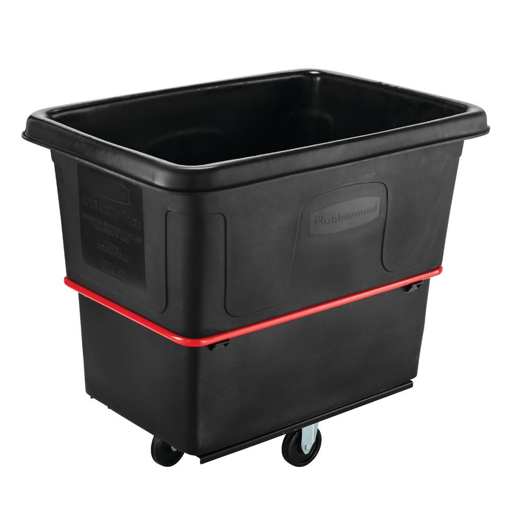 Rubbermaid FG471600 BLA .6 cu yd Trash Cart w/ 1000 lb Capacity, Black