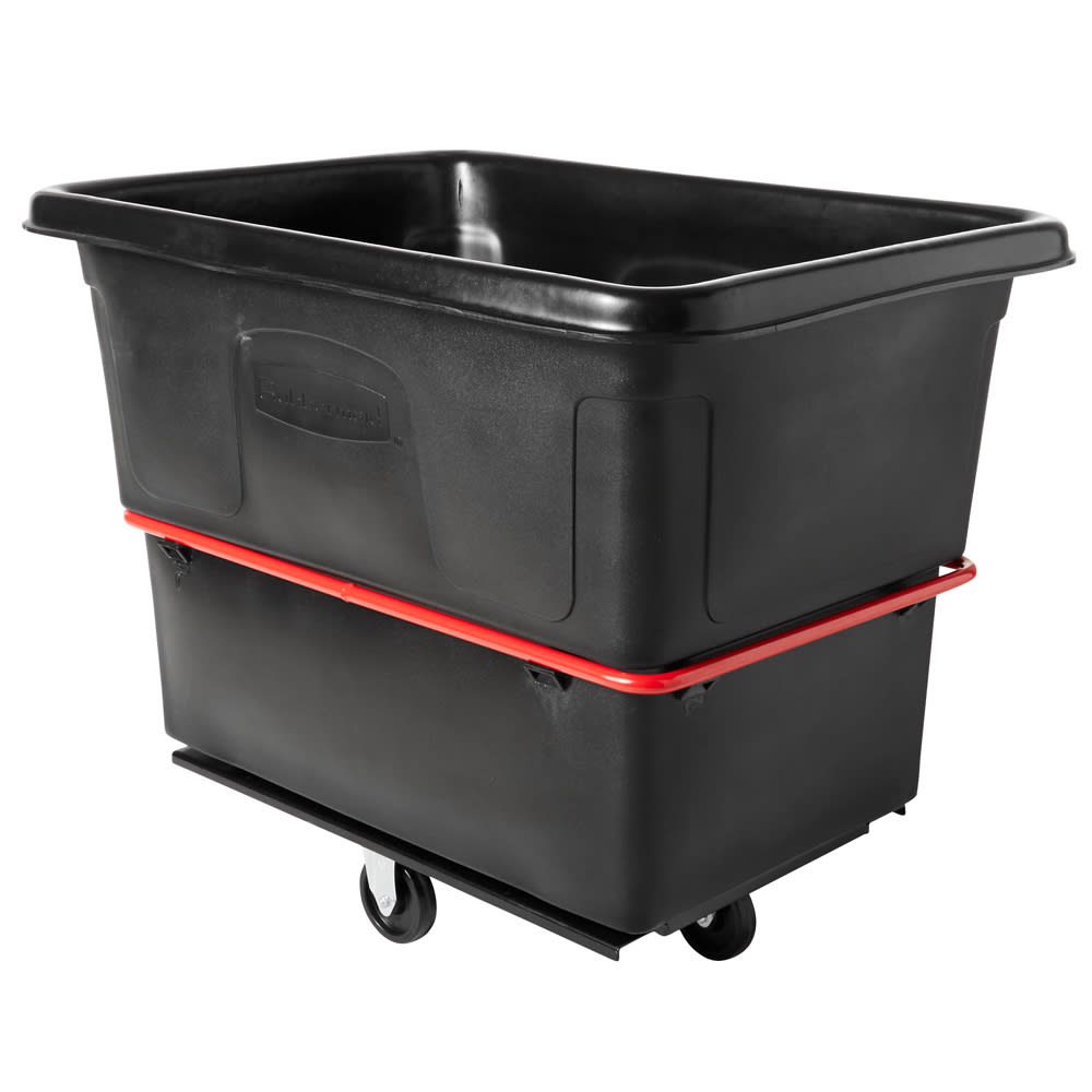 Rubbermaid FG472000 BLA .7-cu yd Trash Cart w/ 1200-lb Capacity, Black
