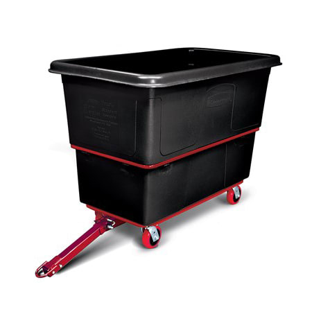 Rubbermaid FG472741 BLA 1 cu yd Trash Cart w/ 1200 lb Capacity, Black