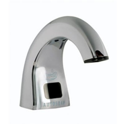 Rubbermaid FG4870465 Liquid Soap Dispenser- 800/1600-ml Refills, Counter-Mounted, Polished Chrome