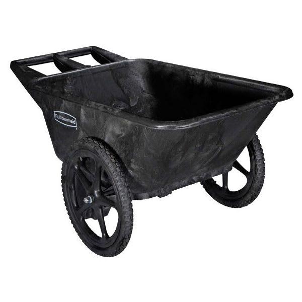 Rubbermaid FG564261 BLA .28-cu yd Trash Cart w/ 300-lb Capacity, Black