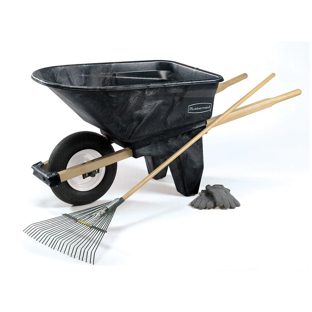 Rubbermaid FG565861 BLA .24-cu yd Trash Cart w/ 200-lb Capacity, Black
