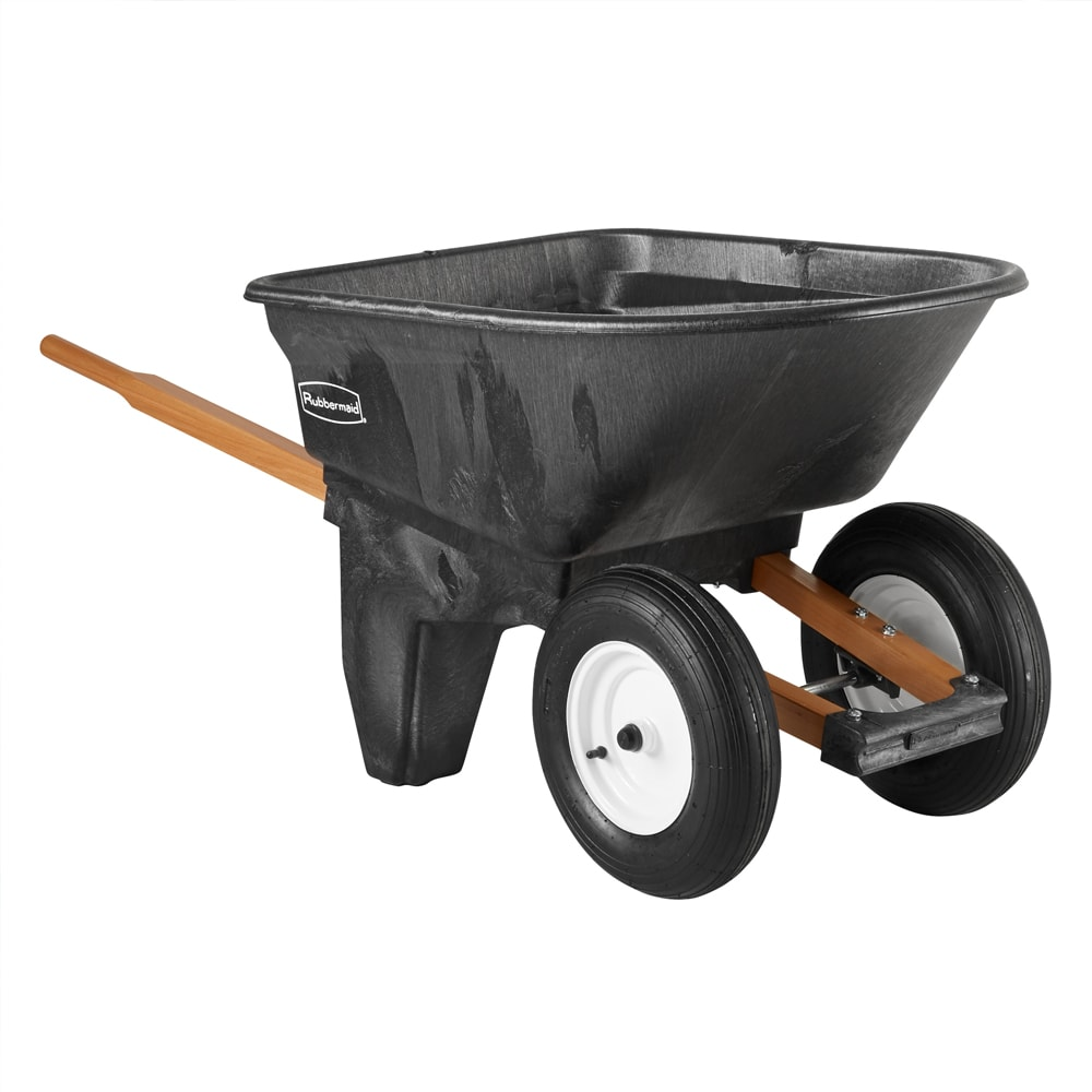 Rubbermaid FG565961 BLA .24 cu yd Trash Cart w/ 200 lb Capacity, Black
