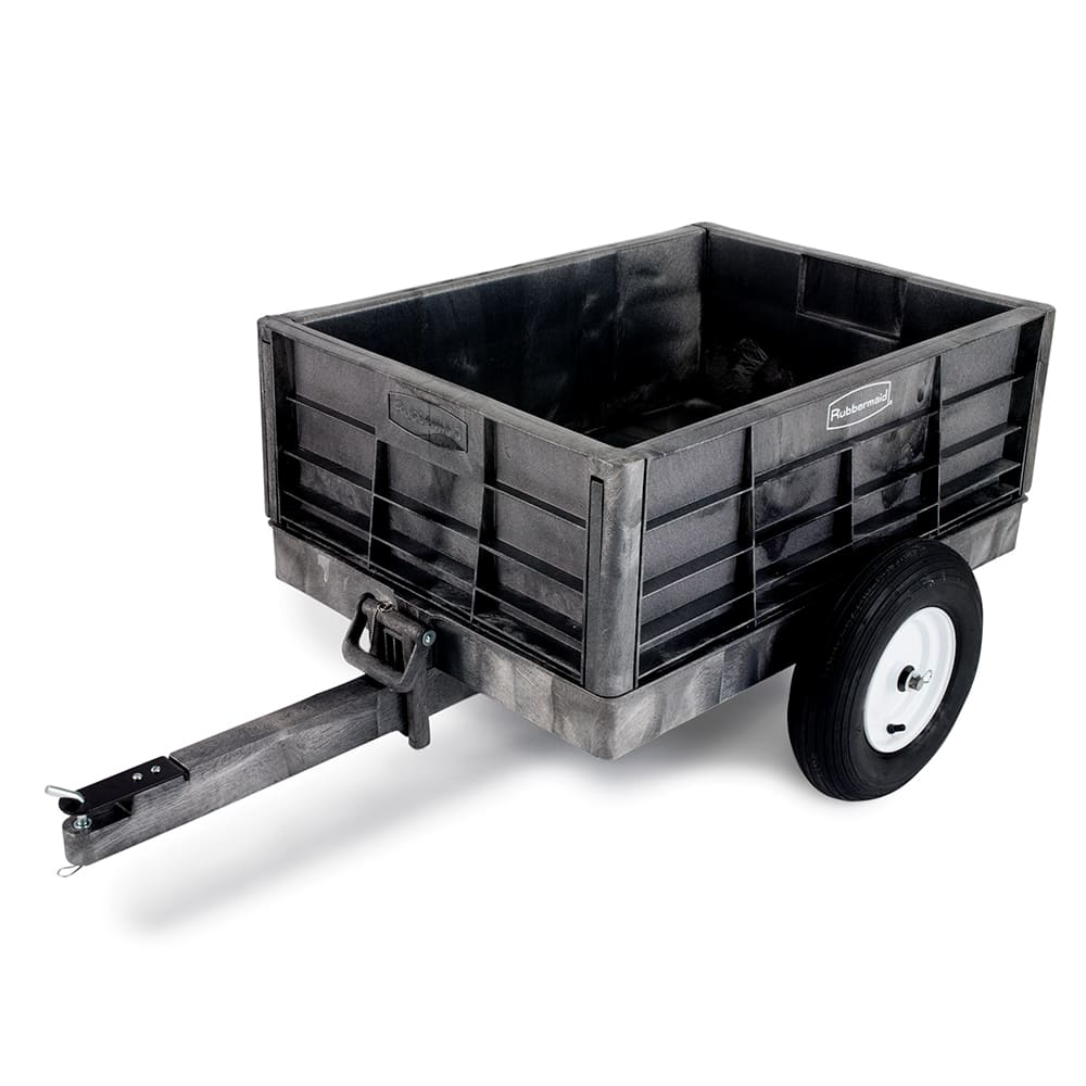 Rubbermaid FG566261 BLA .3 cu yd Trash Cart w/ 400 lb Capacity, Black