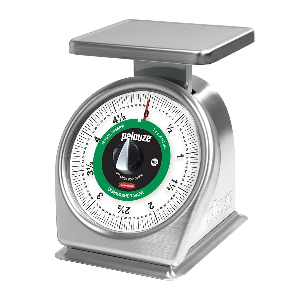 Rubbermaid FG605SRW Pelouze Portion Scale - Dial-Type, 5-lb x 1/2-oz, Stainless