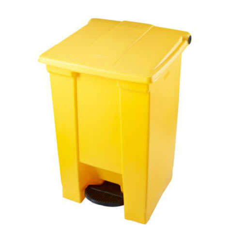 Rubbermaid FG614400YEL 12-gal Step-On Container - Heavy-Duty Pedal, Yellow