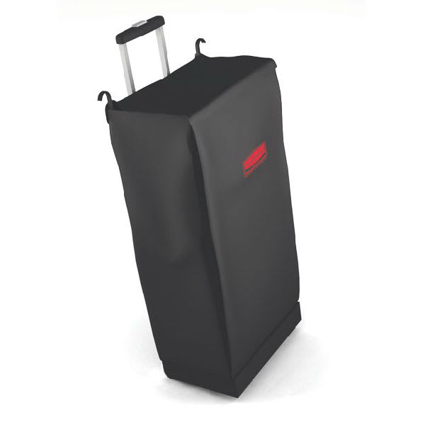 Rubbermaid FG617400BLA Mobile Fabric Bag w/ Handle & Rear Wheels, Black