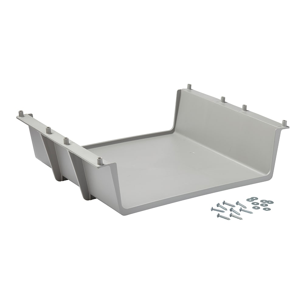 "Rubbermaid FG619600 PLAT 25.375"" Under Deck Shelf Kit, Platinum"