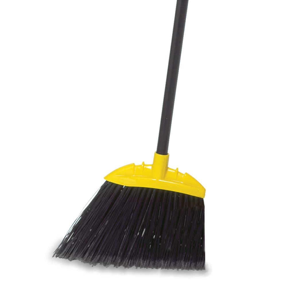 Rubbermaid FG638906BLA Smooth Sweep Angle Broom - Metal/Poly Black