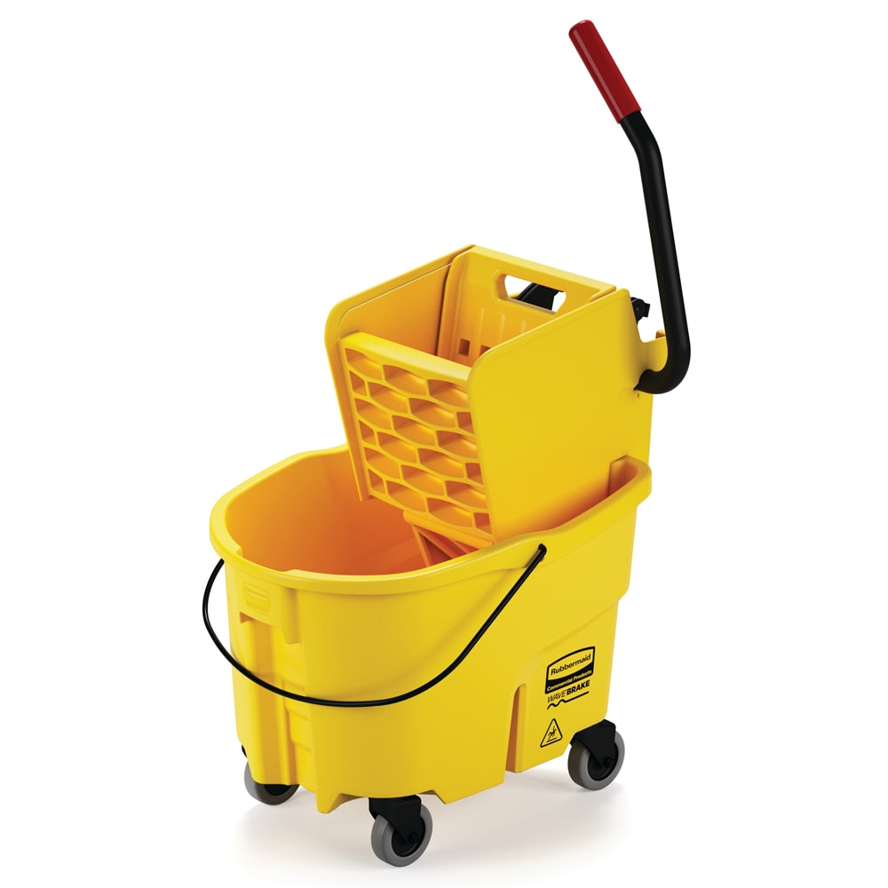 Rubbermaid FG748000YEL WaveBrake Mop/Bucket Wringer System - Yellow