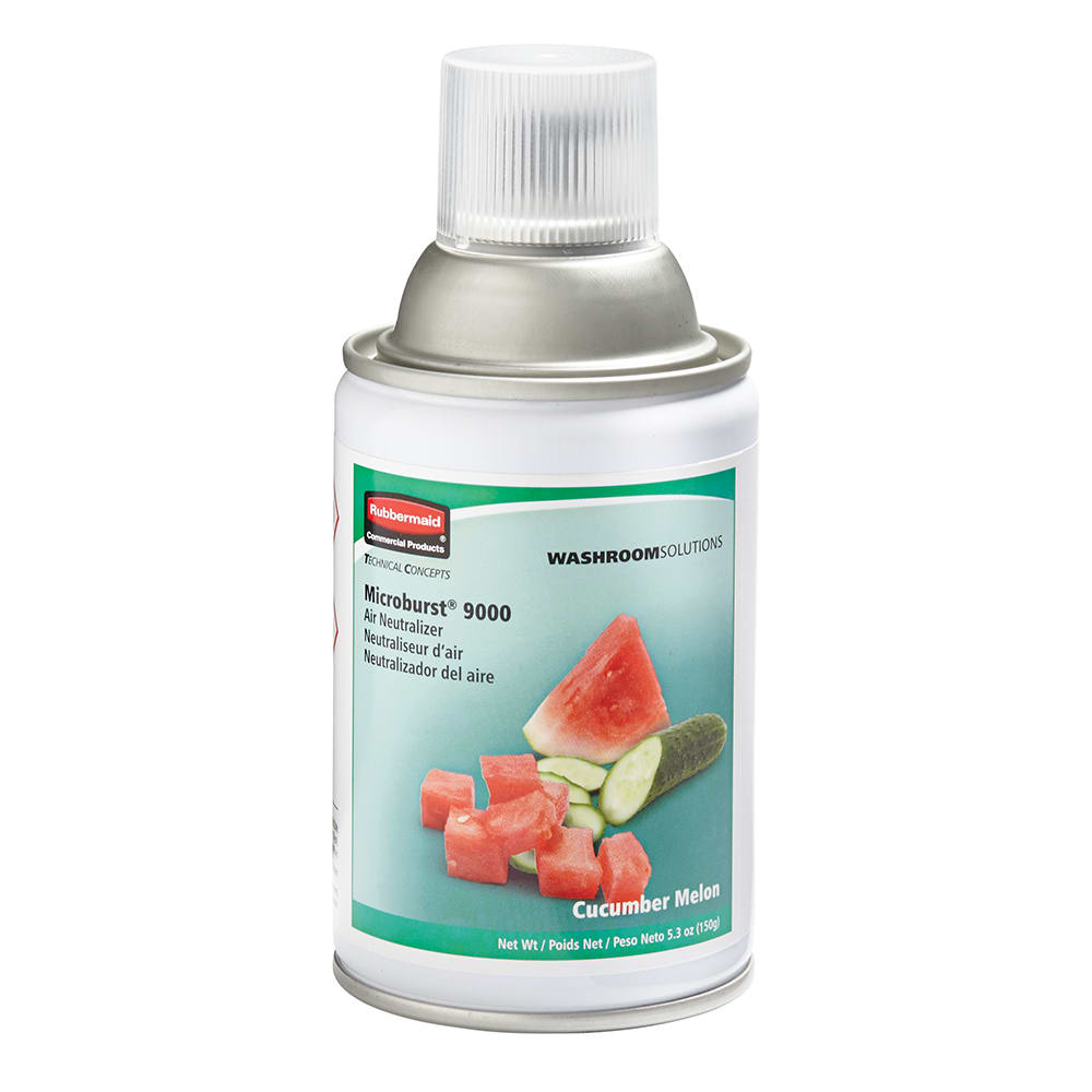 Rubbermaid FG750366 5.25 oz Microburst® 9000 Aerosol Air Neutralizer Refill, Cucumber Melon