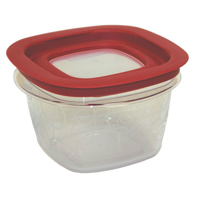Rubbermaid FG7H75TRCHILI 2 Cup Premier Storage Container Chili Red Lid