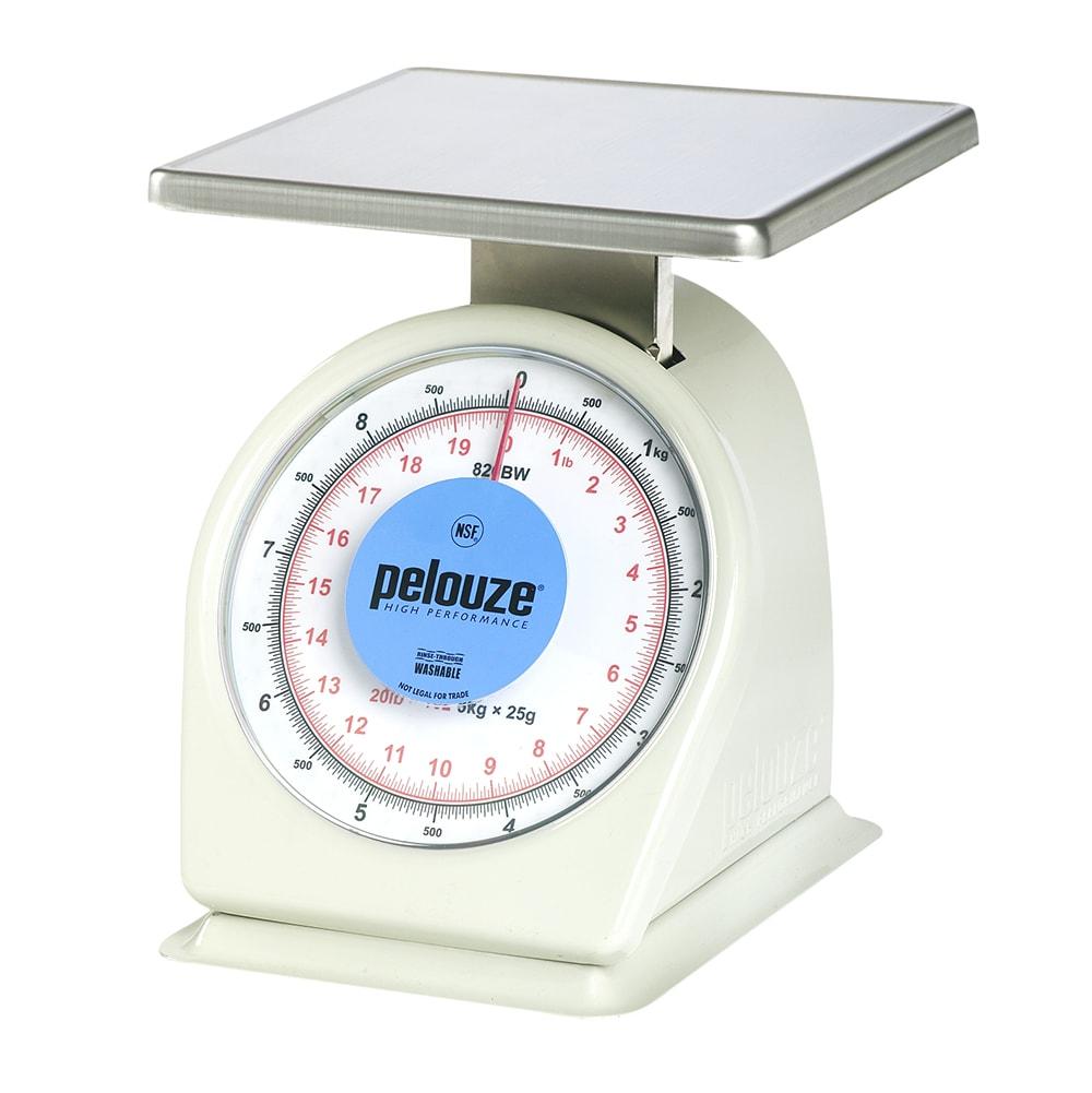 Rubbermaid FG820BW Pelouze Portion Scale - Dial Type, 10 lb x 1 oz/9 kg x25 g, Blue Lens, Stainless