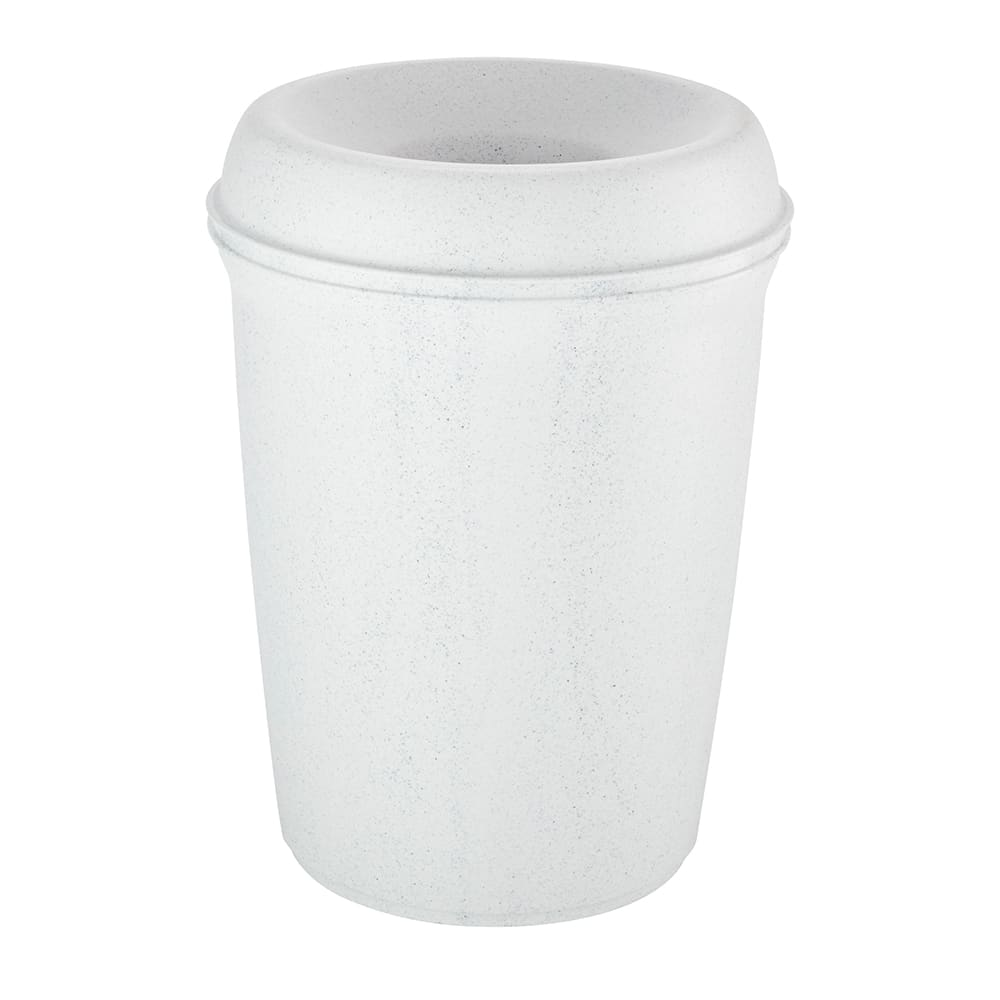 Rubbermaid FG905886WGRAN 35-gal Indoor Decorative Trash Can - Plastic, White