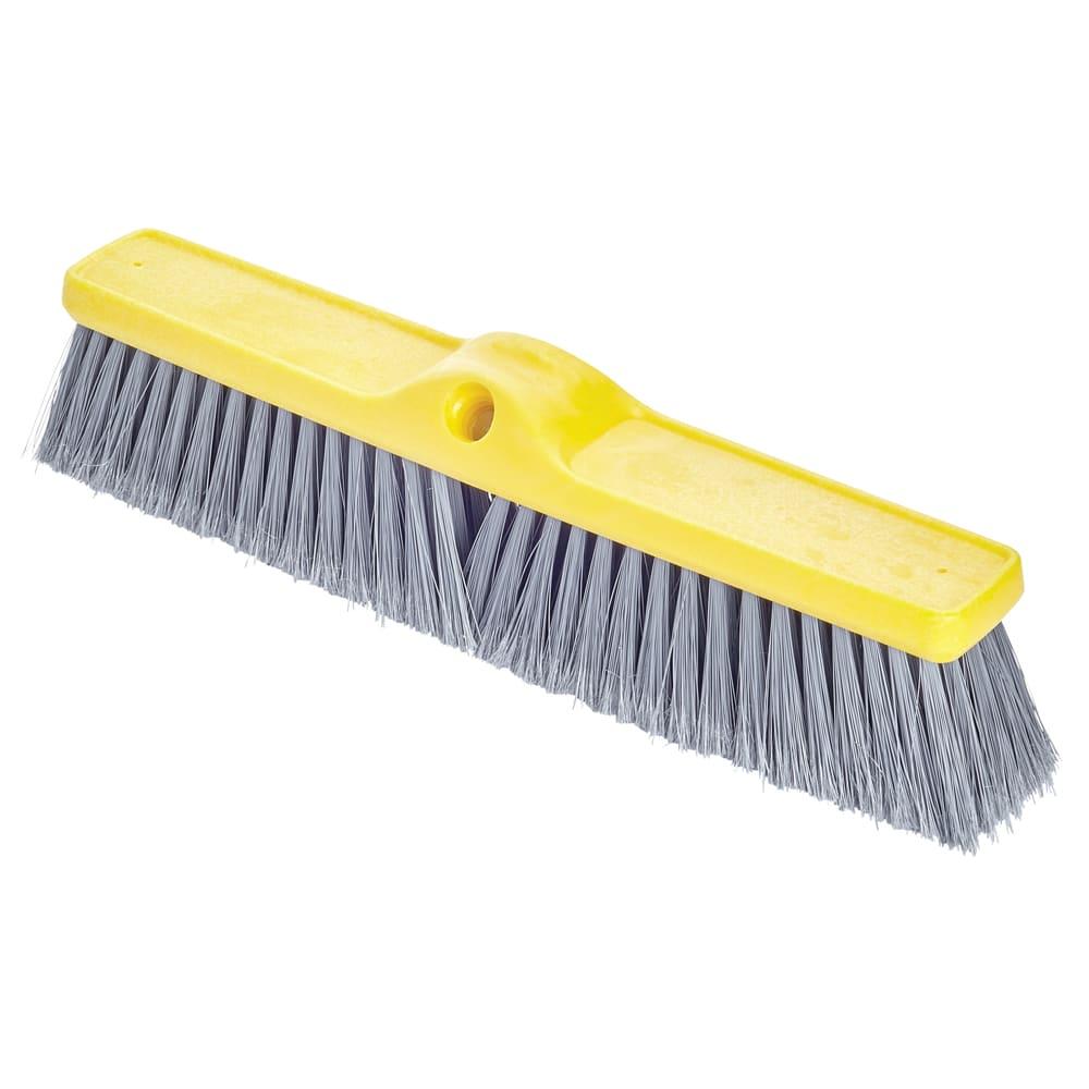 "Rubbermaid FG9B0000GRAY 18"" Floor Sweep - Fine, Plastic/Poly, Gray"