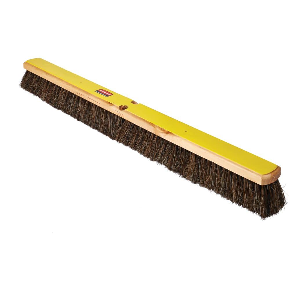 """Rubbermaid FG9B0500BLA 36"""" Floor Sweep - Fine, Wood/Tampico, Black"""