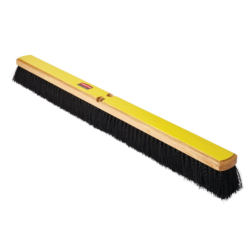 "Rubbermaid FG9B1200BLA 36"" Floor Sweep - Medium, Hardwood/Poly, Black"